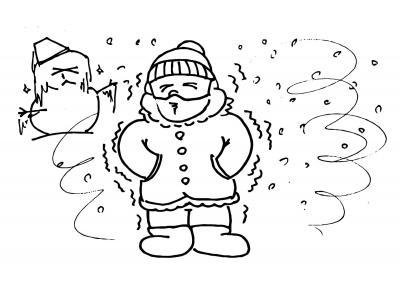 ¡Que frio más malo!